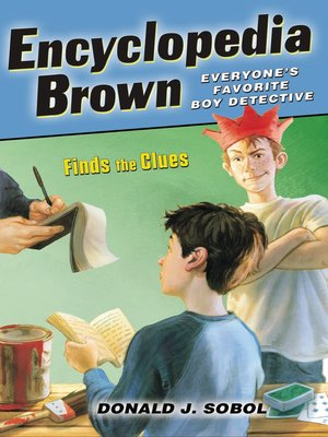 Click this cover for a(n) eBook sample of Encyclopedia Brown Finds the Clues