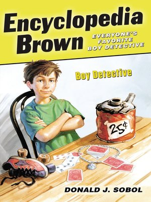 Click this cover for a(n) eBook sample of Encyclopedia Brown, Boy Detective.