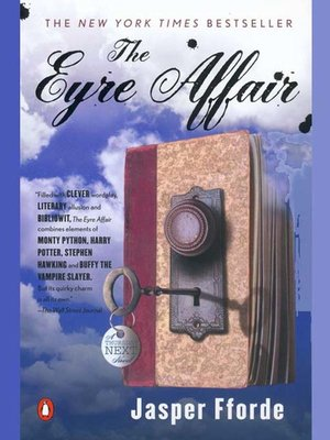 Click this cover for a(n) eBook sample of The Eyre Affair.