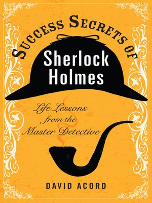 Click this cover for a(n) eBook sample of Success Secrets of Sherlock Holmes