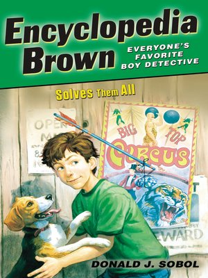 Click this cover for a(n) eBook sample of Encyclopedia Brown Solves Them All.