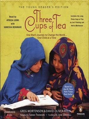 Click this cover for a(n) Audiobook sample of Three Cups of Tea.