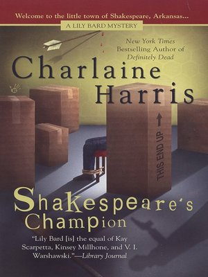 Click this cover for a(n) eBook sample of Shakespeare's Champion