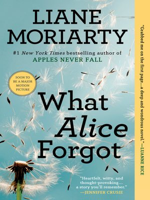 Click this cover for a(n) eBook sample of What Alice Forgot