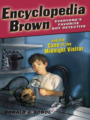 Click this cover for a(n) eBook sample of Encyclopedia Brown Midnight Visitor