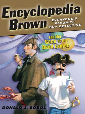 Click this cover for a(n) eBook sample of Encyclopedia Brown and Dead Eagles.
