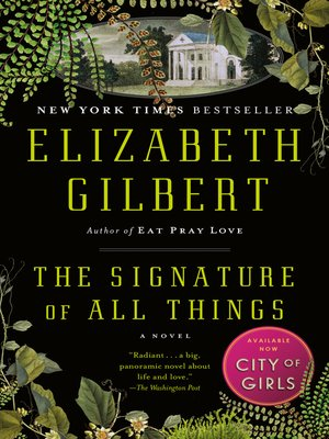 Click this cover for a(n) eBook sample of The Signature of All Things.