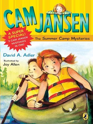 Click this cover for a(n) eBook sample of Cam Jansen and the Summer Camp Mysteries