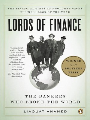 Click this cover for a(n) eBook sample of Lords of Finance