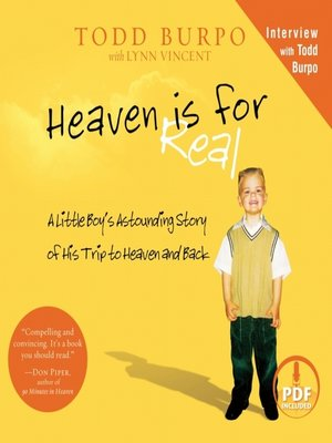Click this cover for a(n) Audiobook sample of Heaven is for Real