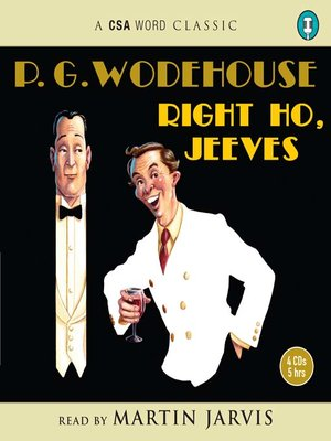 Click this cover for a(n) Audiobook sample of Right Ho, Jeeves.