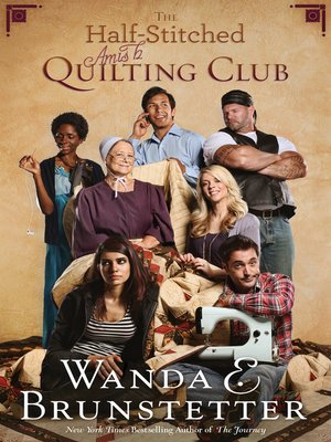Click this cover for a(n) eBook sample of The Half-Stitched Amish Quilting Club.