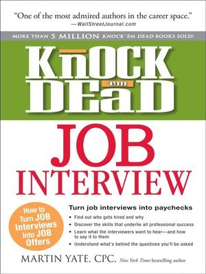 Click this cover for a(n) eBook sample of Knock 'em Dead Job Interview.
