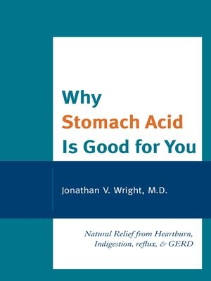 Click this cover for a(n) eBook sample of Why Stomach Acid Is Good for You.