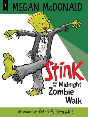 Click this cover for a(n) eBook sample of Stink and the Midnight Zombie Walk