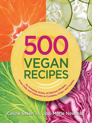 Click this cover for a(n) eBook sample of 500 Vegan Recipes.