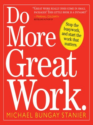 Click this cover for a(n) eBook sample of Do More Great Work.