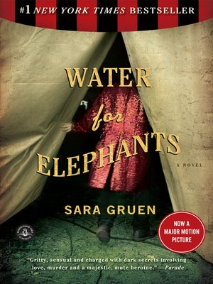 Click this cover for a(n) eBook sample of Water for Elephants.