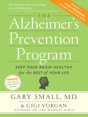 Click this cover for a(n) eBook sample of The Alzheimer's Prevention Program