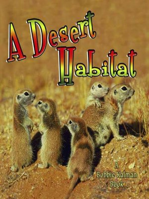 Click this cover for a(n) eBook sample of A Desert Habitat