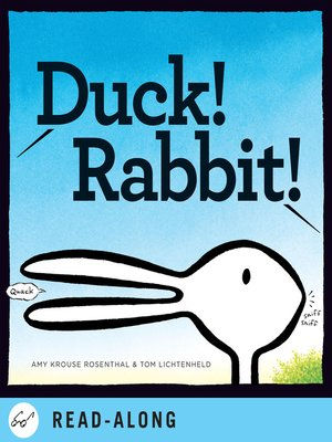 Click this cover for a(n) eBook sample of Duck! Rabbit!