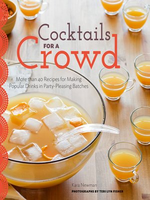 Click this cover for a(n) eBook sample of Cocktails for a Crowd.