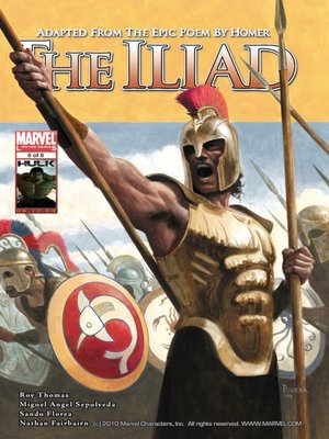 Click this cover for a(n) eBook sample of Marvel Illustrated: The Iliad, Part 6.