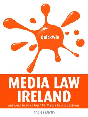Click this cover for a(n) eBook sample of Quick Win Media Law Ireland.