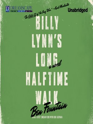 Click this cover for a(n) Audiobook sample of Billy Lynn's Long Halftime Walk