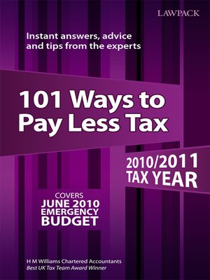 Cover of 101 Ways to Pay Less Tax