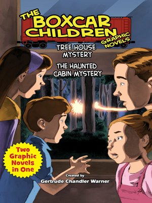 Click this cover for a(n) eBook sample of Tree House Mystery & The Haunted Cabin Mystery