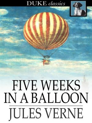 Click this cover for a(n) eBook sample of Five Weeks in a Balloon.