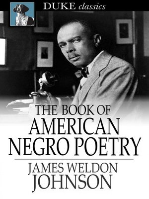 Cover of The Book of American Negro Poetry