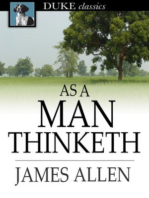 Click this cover for a(n) eBook sample of As a Man Thinketh