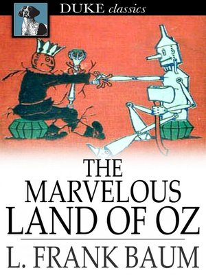 Click this cover for a(n) eBook sample of The Marvelous Land of Oz