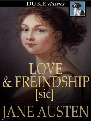 Click this cover for a(n) eBook sample of Love and Freindship [sic].