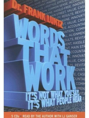 Click this cover for a(n) Audiobook sample of Words That Work.