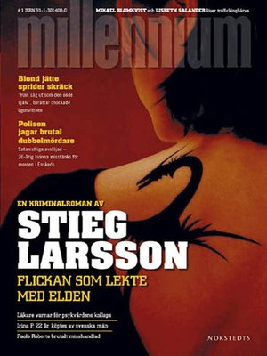 Click this cover for a(n) eBook sample of Flickan som lekte med elden.