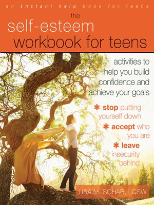 Click this cover for a(n) eBook sample of Self-Esteem Workbook for Teens
