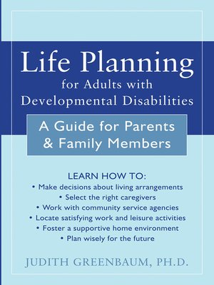 Click this cover for a(n) eBook sample of Life Planning for Adults with Developmental Disabilities
