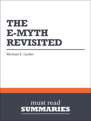 Click this cover for a(n) eBook sample of The E-Myth Revisited - Michael E. Gerber.