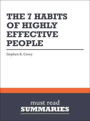 The 7 Habits of Highly Effective People - Stephen R. Covey
