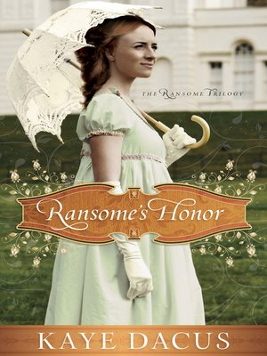 Click this cover for a(n) eBook sample of Ransome's Honor.