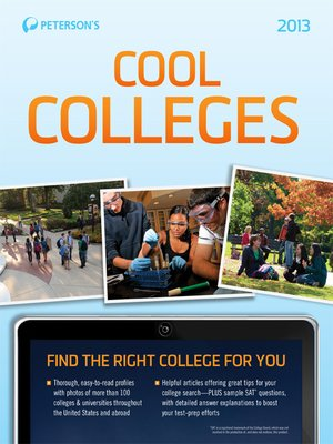 Click this cover for a(n) eBook sample of Cool Colleges 2013.
