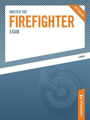 Click this cover for a(n) eBook sample of Master the Firefighter Exam.