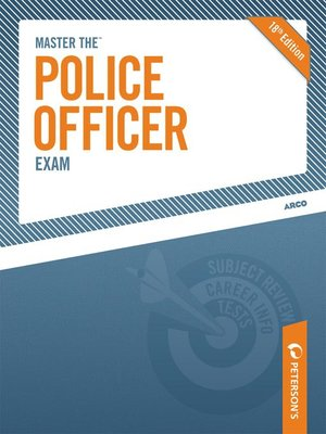 Click this cover for a(n) eBook sample of Master the Police Officer Exam.