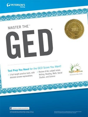 Click this cover for a(n) eBook sample of Master the GED 2012