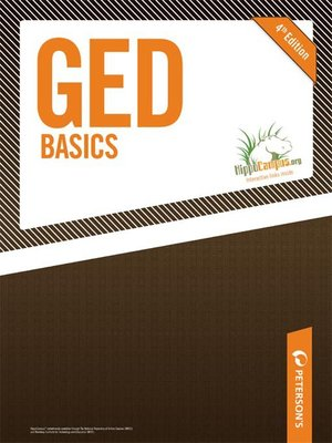 Click this cover for a(n) eBook sample of GED Basics.