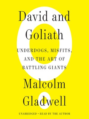 Click this cover for a(n) Audiobook sample of David and Goliath.