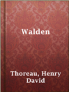 Walden  Authors:    · Thoreau, Henry David  Subjects:    · Biography & Autobiography    · Classic Literature & Literary Criticism    · Essays    · Nonfiction    · Philosophy    · Science & Nature    · Authors, American -- 19th century -- Biography    · Civil disobedience    · Natural history -- Massachusetts -- Walden Woods    · Solitude    · Thoreau, Henry David, 1817-1862 -- Homes and haunts -- Massachusetts -- Walden Woods    · Wilderness areas -- Massachusetts -- Walden Woods